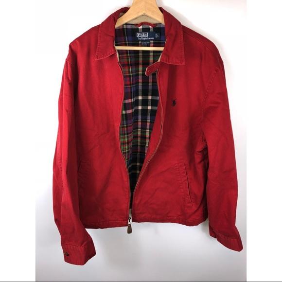 Harrington Vintage Ralph Jacket By Polo Lauren Lrg n0O8wPk
